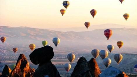 Kapadokya'da balon turizmine rüzgar engeli!