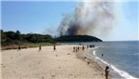 Çanakkale Gelibolu'da yangın çıktı!