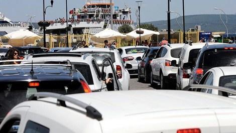 Tatil dönüşü trafik yoğunluğu!
