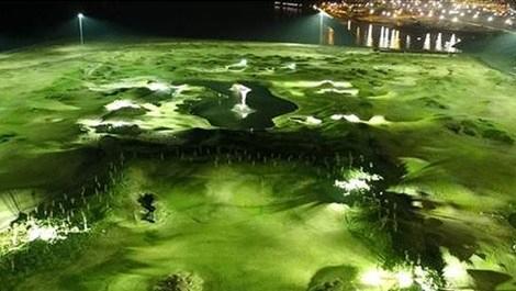 Samsun'da deniz üzerine inşa edilen golf sahası