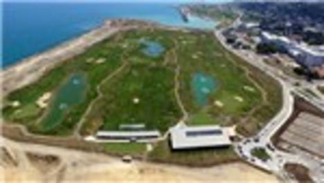 Deniz dolgusuna yapılan golf sahasında son hazırlıklar!