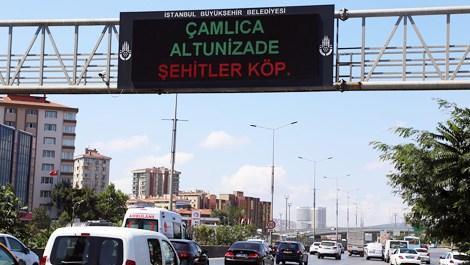 Şehitler Köprüsü trafik ekranlarında!