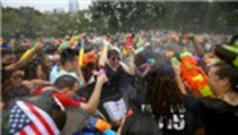 New York Central Park'ta su savaşı başladı!