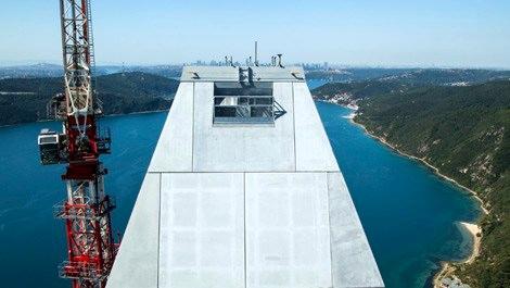 3. Köprü kuleleri 322 metrede birleşti!