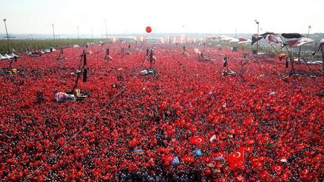 Yenikapı'daki mitinge 5 milyon kişi katıldı!