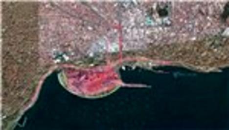 Yenikapı'nın uydudan çekilmiş görüntüsü ortaya çıktı