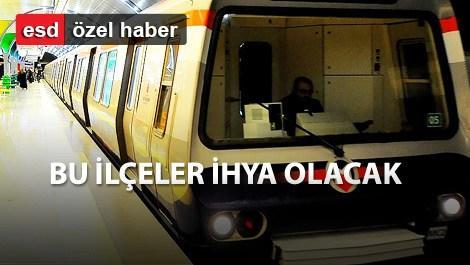 İşte İstanbul ilçelerinin metro haritası!