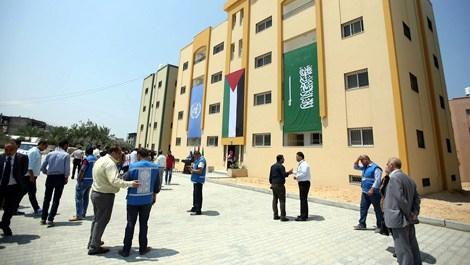 Gazze'de inşa edilen 46 konut sahiplerine teslim edildi