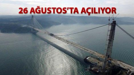 Yavuz Sultan Selim Köprüsü'nün geçiş ücreti belli oldu