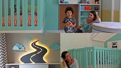 Pelin Karahan, oğluna özel oda tasarlattı