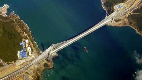 3. Köprü 5 bin metreden görüntülendi