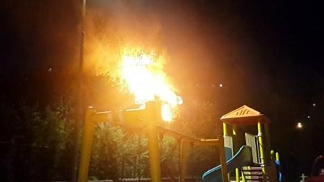 Şişli'de gecekonduda yangın çıktı