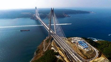 Yavuz Sultan Selim Köprüsü'nün tacını Fibrobeton giydirdi
