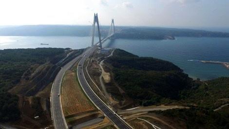 İşte Yavuz Sultan Selim Köprüsü'nün giriş çıkış yolları!