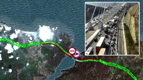 Yavuz Sultan Selim Köprüsü'nde yoğun trafik!