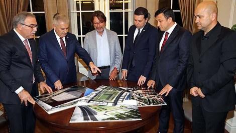 Başbakan Yıldırım, İzmir Göztepe'deki stat projesini inceledi