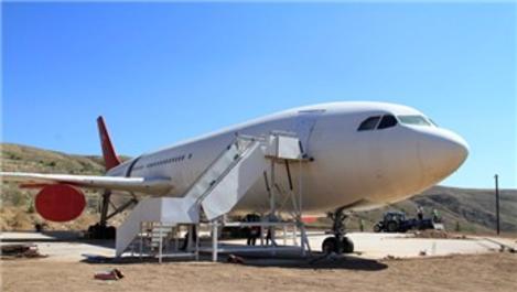 Çankırı'da Airbus A 300 tipi uçak, kütüphane oldu!