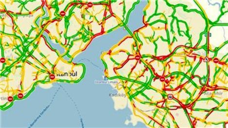 İstanbul trafiği güne yoğunlukla uyandı