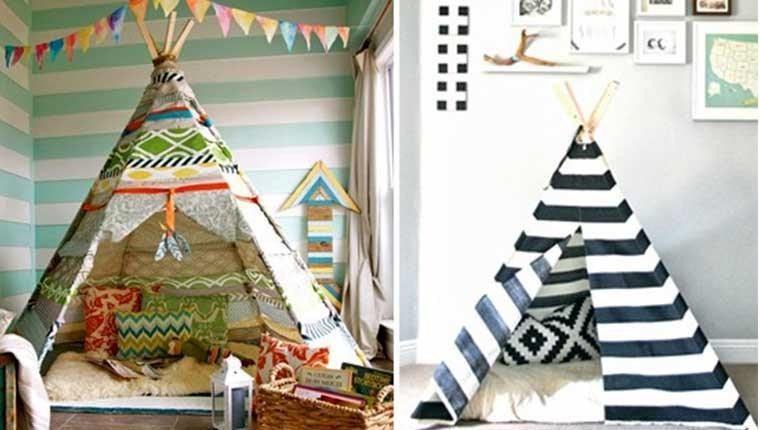 Evde çocuklara özel alan: Çadır ev!
