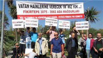 Fikirtepe'de inşaat firmalarını protesto ettiler