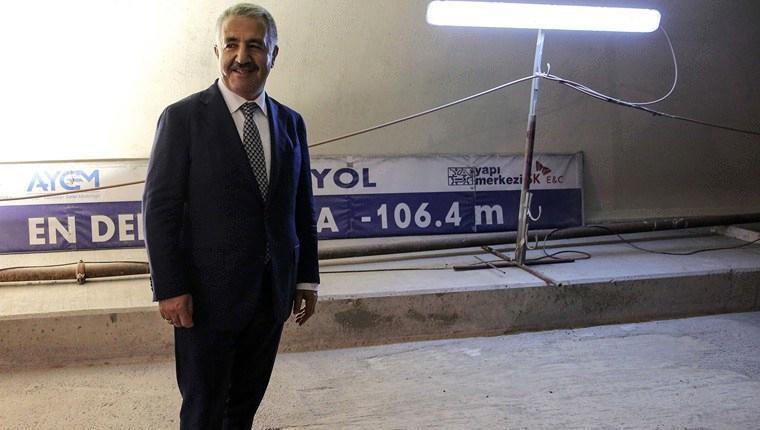 Bakan Ahmet Arslan, Avrasya Tüneli'ni inceledi