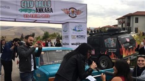Klasik otomobiller Ankara Golfkent'te yarıştı!