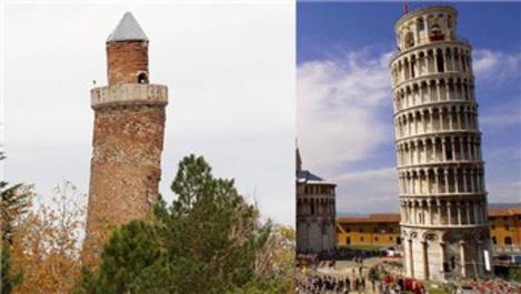 Harput Ulu Cami'nin minaresi, Pisa Kulesi'ne karşı!