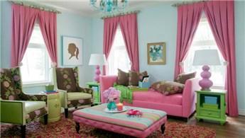 Evinize neşe getirecek rengarenk salon tasarım fikirleri