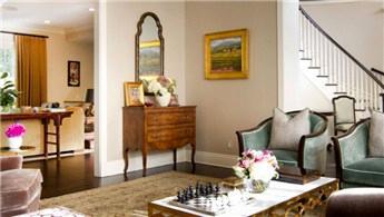Salonlarda İngiliz tarzı dekorasyonlar