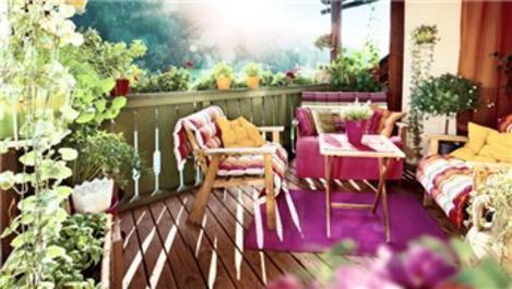 Balkonu bahçe gibi kullanabilirsiniz