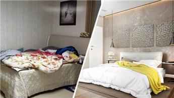 Yatak odasını düzenli tutacak öneriler!