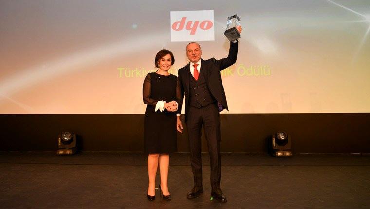 DYO Boya, 2016 Türkiye Mükemmellik ödülünü kazandı
