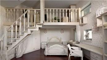 Asma katlı odalar için mükemmel dekoratif fikirler