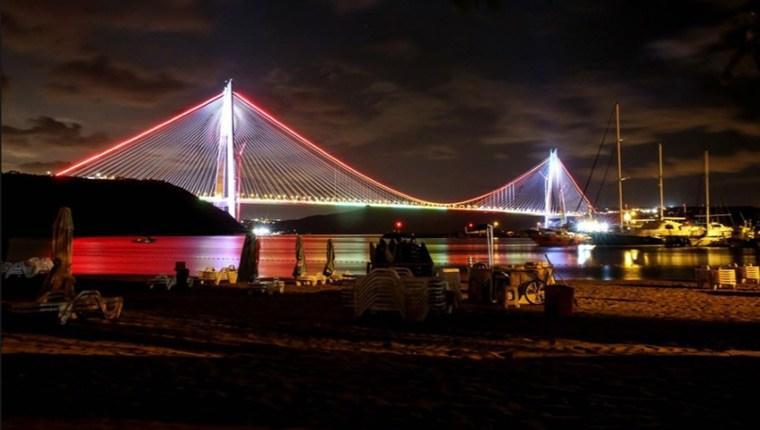 Yavuz Sultan Selim Köprüsü turuncu ışıklarla aydınlatılacak