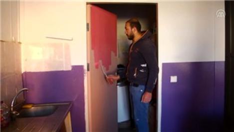 Van'daki okulun bakımı için öğretmenler inşaat ustası oldu!