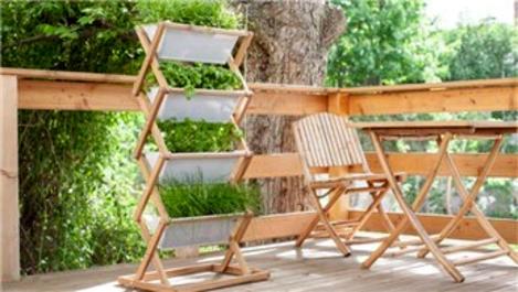 Balkon ve teraslar için portative masa ve sandalye modelleri