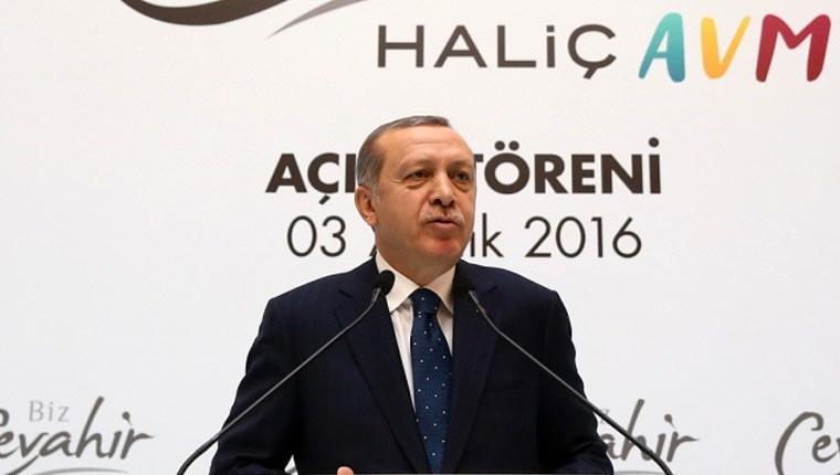 Cumhurbaşkanı Erdoğan, Biz Cevahir Haliç AVM'yi açtı