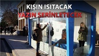 Erzurum'un klimalı durakları vatandaşı sevindirdi!