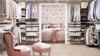 Her bütçe için giysi odası örnekleri