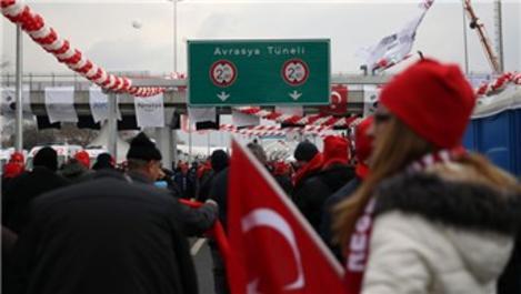 Avrasya Tüneli geçiş ücreti yılbaşına kadar 15 TL olacak!