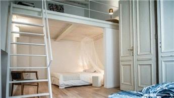 Farklı mimarili küçük odalar için örnekler