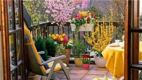 Balkonu bahçe tarzına çevirme