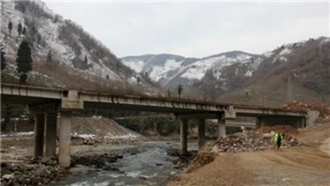 Karadeniz'de Dereli Yolu ve Eğribel Tüneli'nde sona doğru!