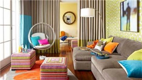 Renkli salon tasarımı!