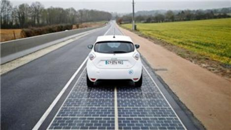 Güneş enerjili yol Fransa'da hizmete girdi