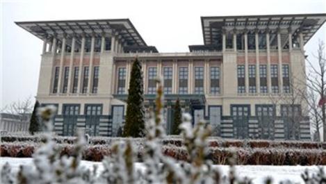 Cumhurbaşkanlığı Külliyesi'nden kış manzarası!