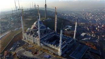 Çamlıca Camii'nde çalışmalar hızla sürüyor