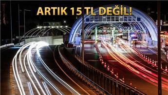 Avrasya Tüneli'nin 2017 geçiş ücreti açıklandı
