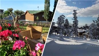 Yazı ayrı güzel, kışı ayrı güzel Naturalm Çiftlik Evleri!