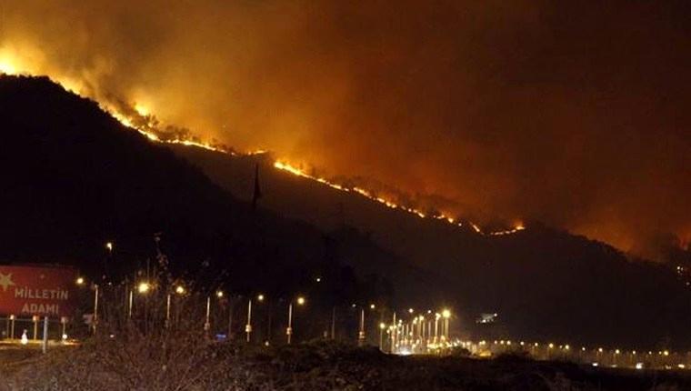 Sürmene'deki orman yangını kontrol altına alındı